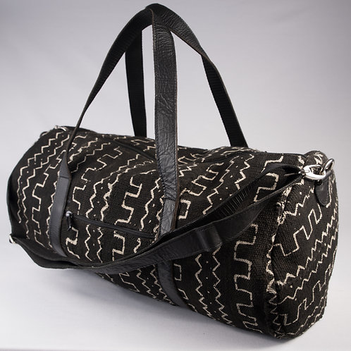 Madame Dakar Weekend Bag - Bogolan -black/white