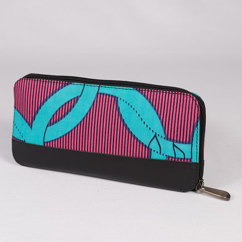 Wepia Wax Wallet -pink/turquois