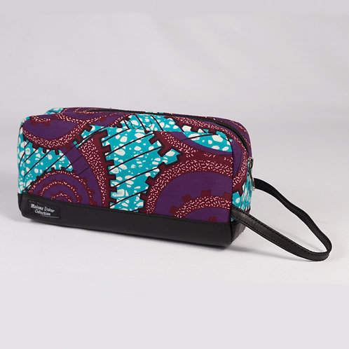 Madame Dakar Sponge Bag - Wax Print - violet/blue