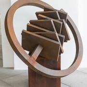 Schichtung 2005,Eisenfeilspäne auf Holz u. MDF, Durchm.100 cm