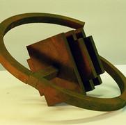 Schichtung, 2005, Eisenfeilspäne auf MDF, Durchm.50 cm
