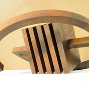 Schichtung2006 , Eisenfeilspäne auf Holz, MDF