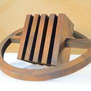 Schichtung,2006, Eisenfeilspäne auf Holz, MDF