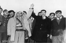 القائد الشهيد مع مصطفى البرزاني