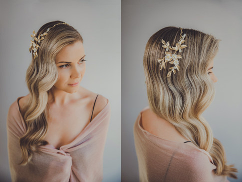 Glamour wave accessorised with Ulyana Aster Head band