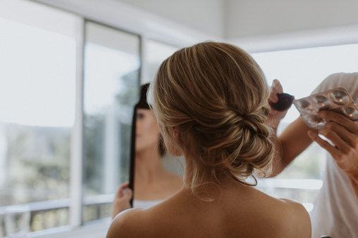 Romantic deconstructed chignon is one of my favourite looks for romantic brides