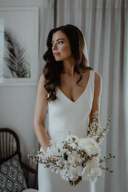 Soft glamour wave was the perfect hair for Sheree's elegant bridal look