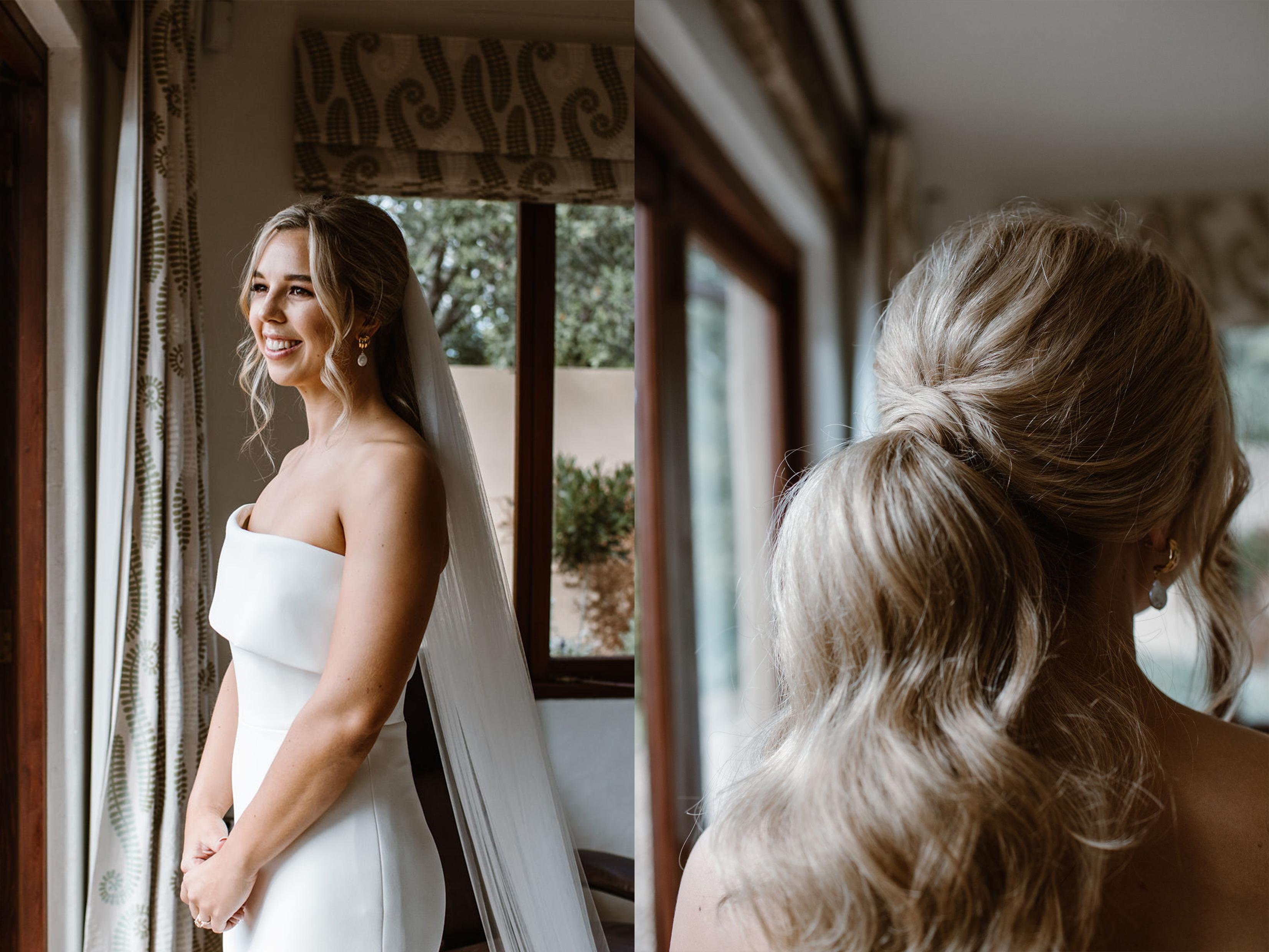 Auckland Hairdresser, Romatic wedding Hairstyle, Bridal Party Hairdresser, Waiheke island wedding