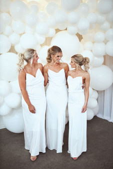 Ponytails are so cute on bridesmaids. 2 of these girls didnt have quite enough hair so we used clip in extensions