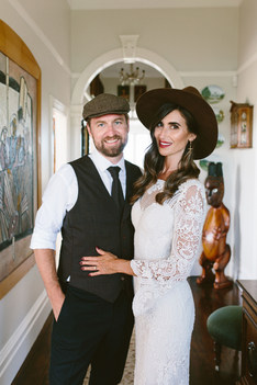 A glamour wave with a spanish feel for Rachel on her wedding day. I love that she styled it with a hat for some of her photos
