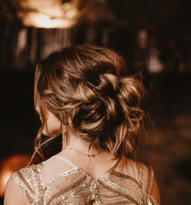 Tousled hair is possibly one of my favourite looks for a bride that wants that real romatic elegant feel