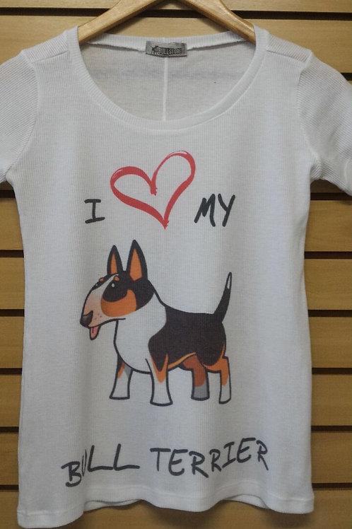 Camiseta I Love My Bull Tricolor