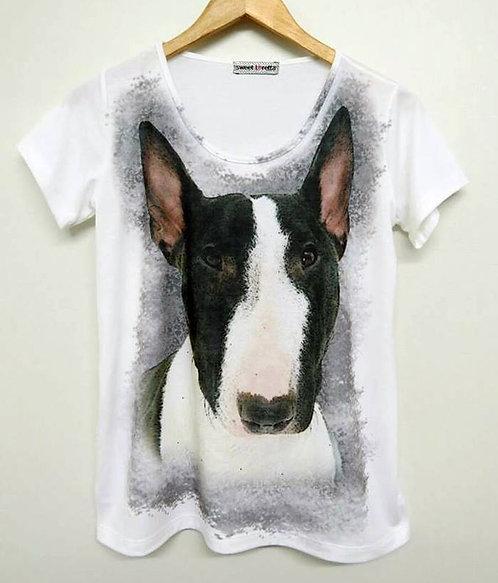 Camiseta Bull Face Preto/Branco