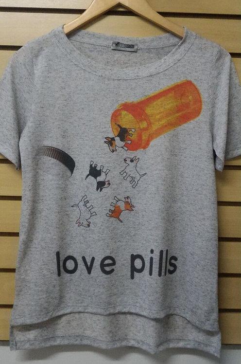 Camiseta Bull Terrier Love Pills