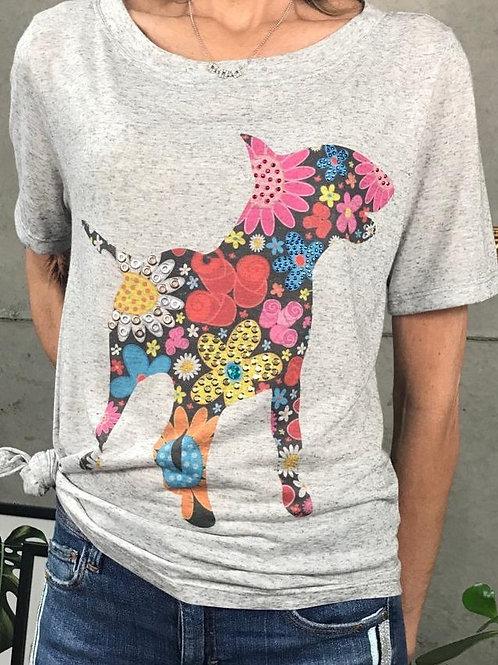 T-Shirt Bull Flores