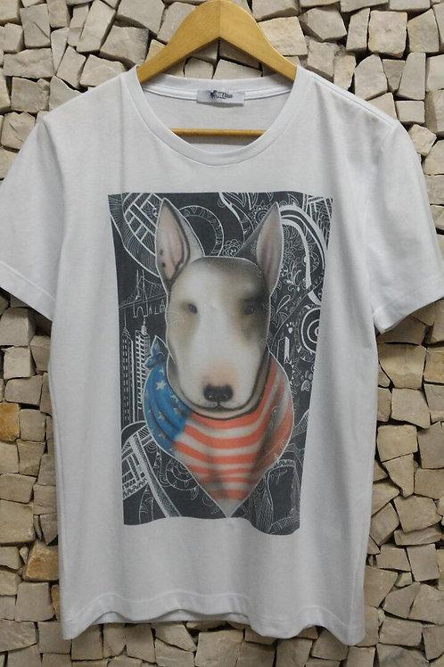 Camiseta Pet Art Crew Bandana By D Gênio