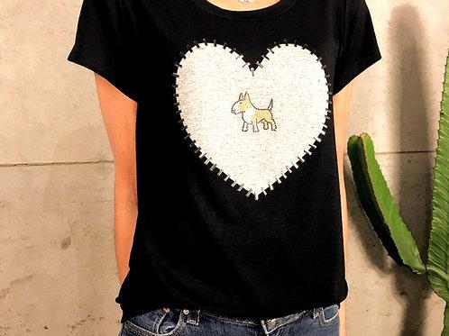 Camiseta Coração Bull Baio