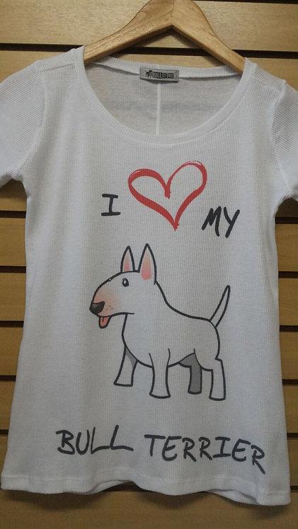 Camiseta I Love My Bull Branco