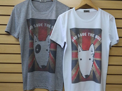 Camiseta Masculina God Save The Bull