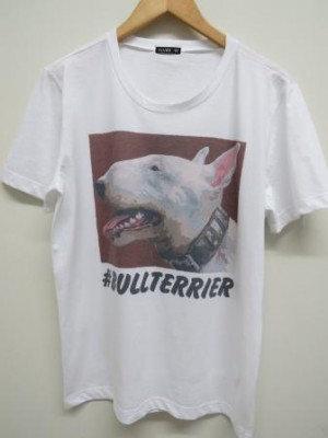 Camiseta #bullterrier