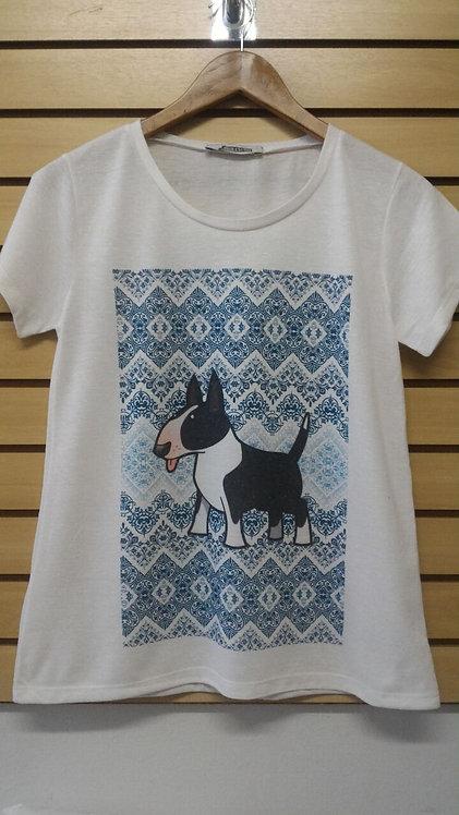 Camiseta Bull Preto e Branco