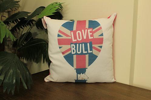 Capa de Almofada Balão Love Bull