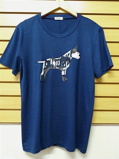 Camiseta Silhuetta de Bull Camuflada