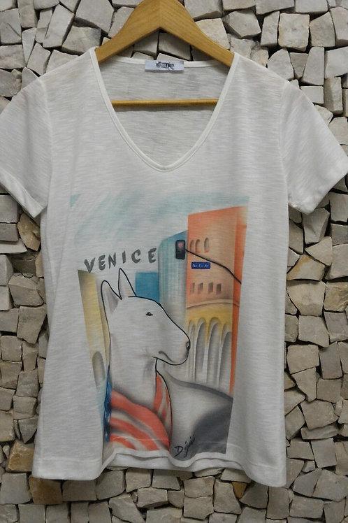 Camiseta Pet Art Crew Venice  D Gênio