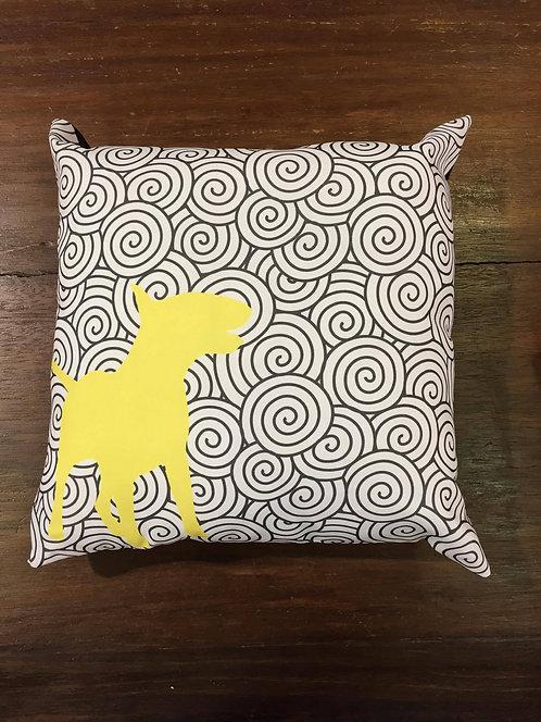 Capa de Almofada Grafismos Amarela