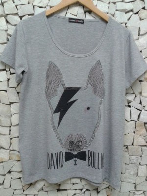 Camiseta Mescla Bull Customizado c/ Tachas
