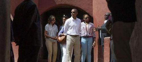 Barack Obama en visite à la maison des e