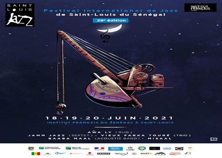 Festival Saint - Louis Jazz - affiche bi