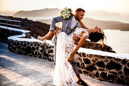 Melissa and Andy Cannon's Wedding at Venetsanos Winery in Santorini