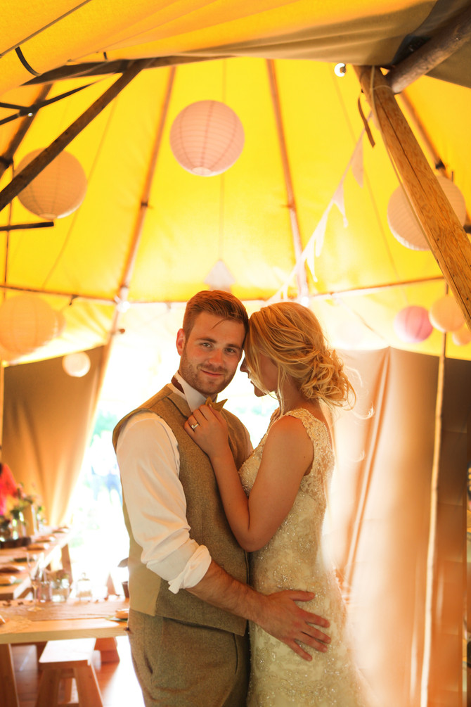 Emma & Mike's Rustic teepee Wedding at Oaklands