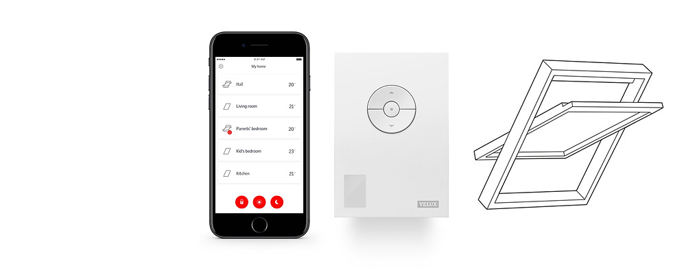 Velux roof window home automation