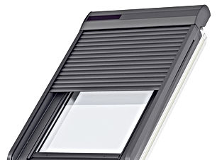 Velux solar powered roller shutter