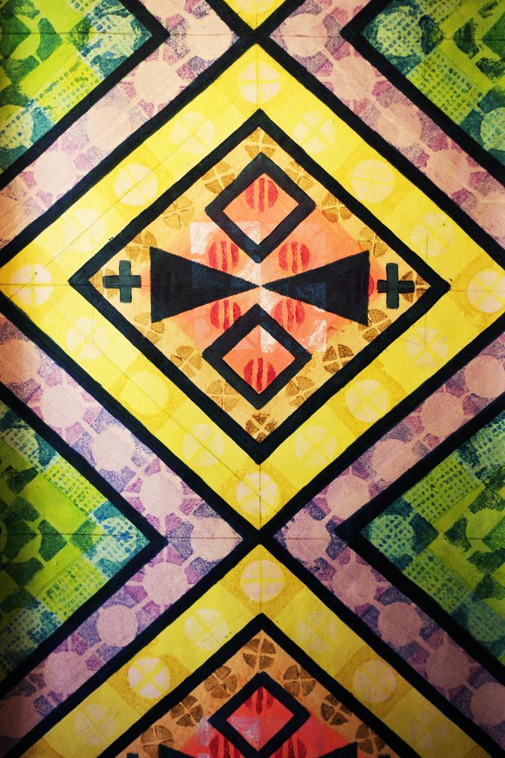 «Ojos para mirar el Alma» Acrílico sobre papel mural 106 cm x 247 cm