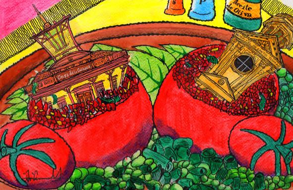 """""""Tomates Limachinos rellenos."""" (Colección Recetario Patrimonial)."""