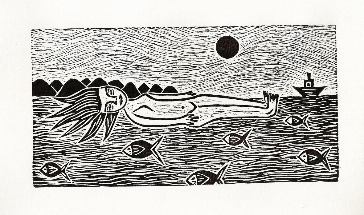 """Mujer en el agua"""