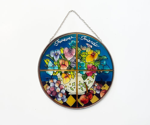 Vintage Forever Friends Stained Glass