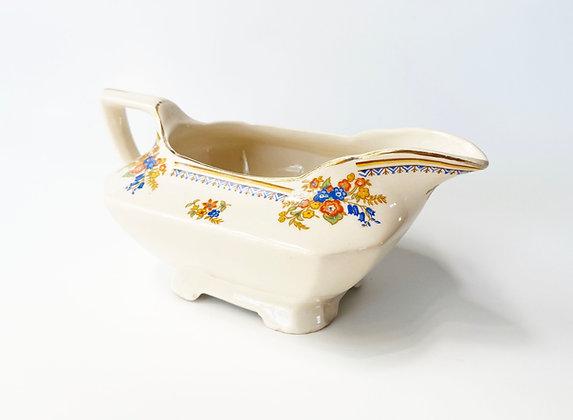 Vintage Floral Ceramic Serving Pitcher
