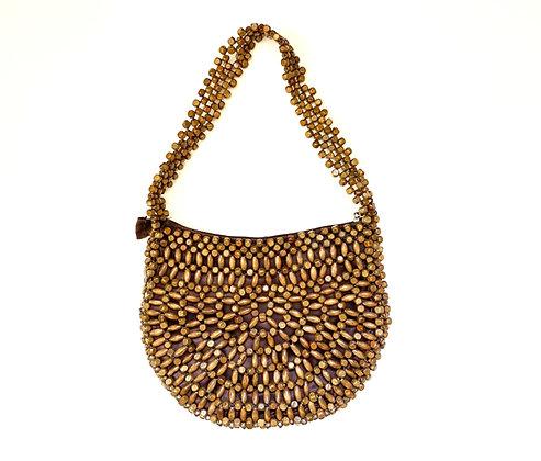 Wooden Beaded Handbag