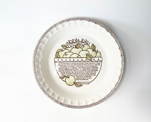 Vintage Apple Pie Baking Dish