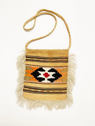 Vintage Hand-woven Geometric Handbag