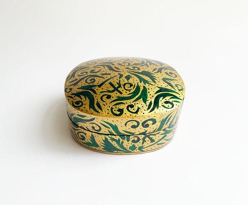 Hand-Painted Wooden Jewelry Box - Medium
