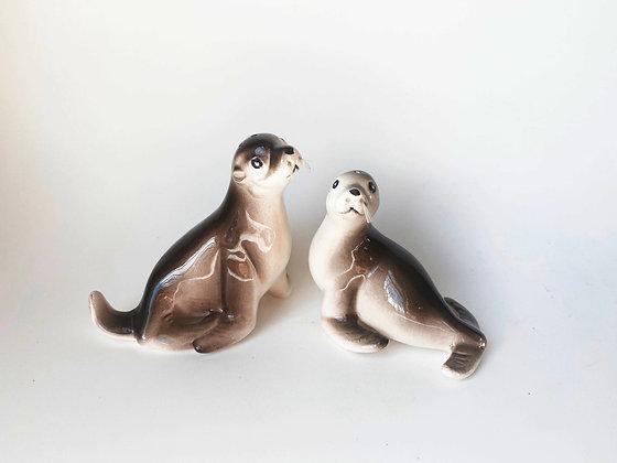 Seal Salt & Pepper Shakers