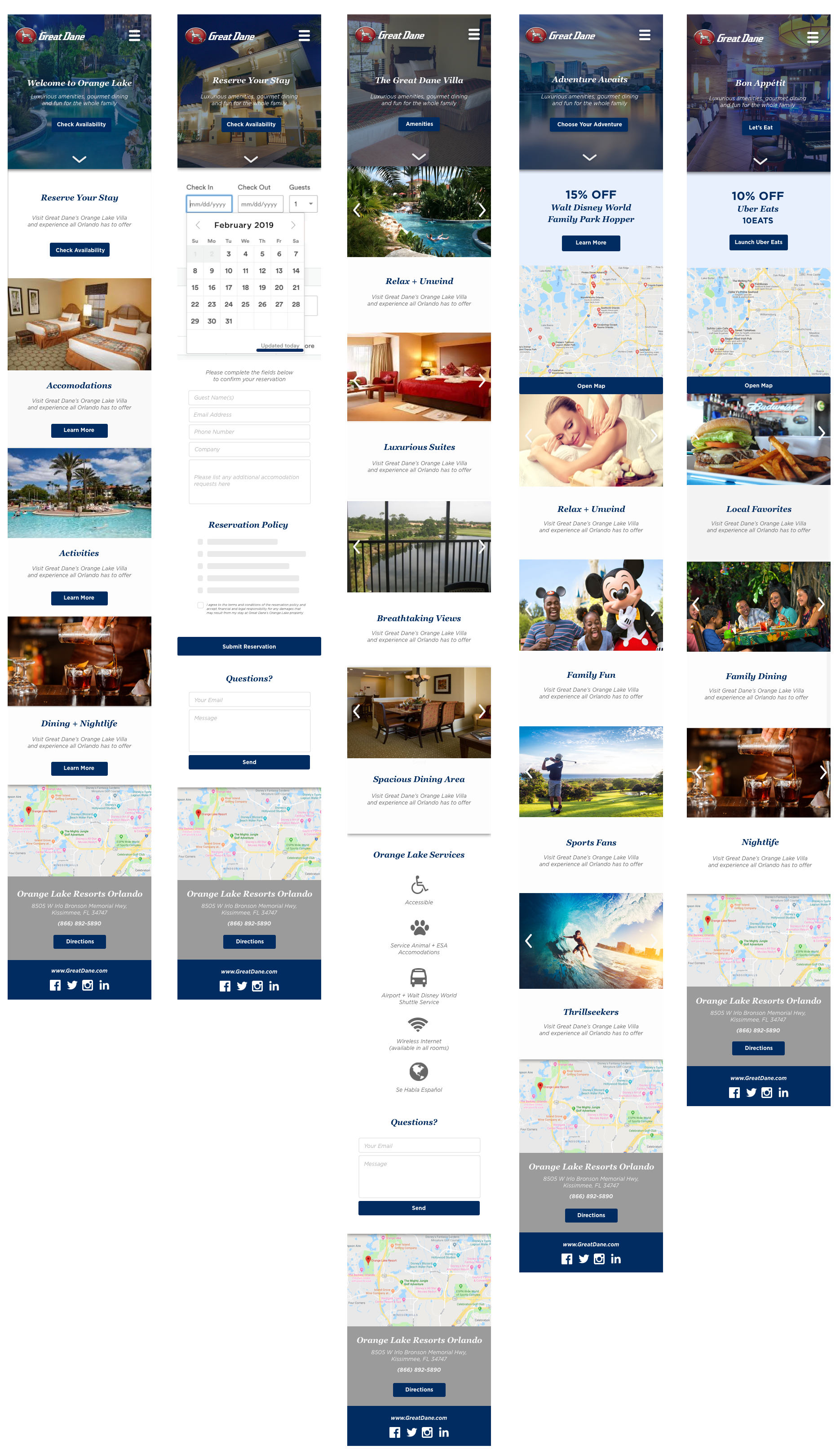 Orange Lake Resorts Mobile Site