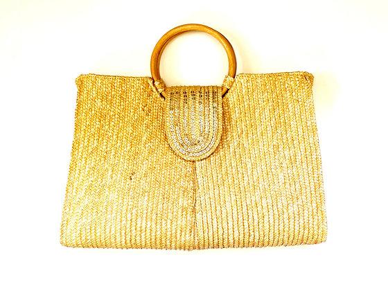 Braided Sequin Handbag