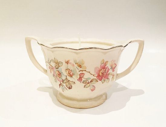 Vintage Rose Handmade Natural Soy Wax Candle - Lavender