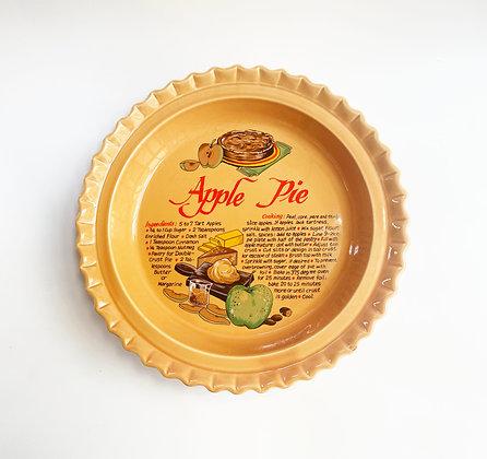 Vintage Apple Pie Ceramic Baking Dish